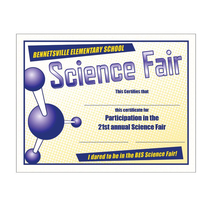 221 best images about 7th science on pinterest cell structure human body and student for Science fair certificate