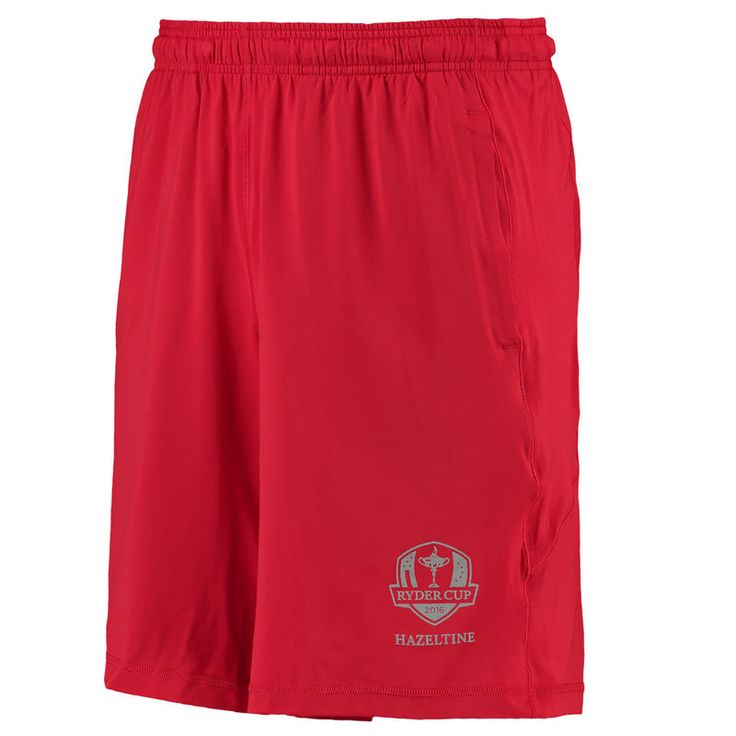 2016 Ryder Cup Under Armor Raid Solid Performance Shorts - Red