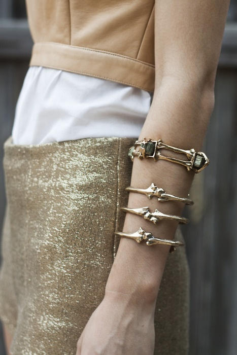 Bone cuff.: Fashion, Style, Jewellery, Bones, Jewelry, Gold, Accessories, Bone Bracelets