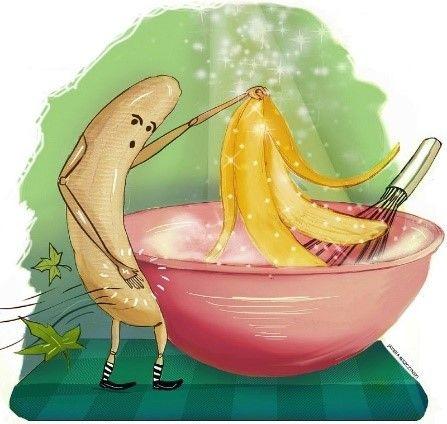 La cascara de plátano es una buenísima fuente de fibra, vitaminas A y B, antioxidantes y reduce l...