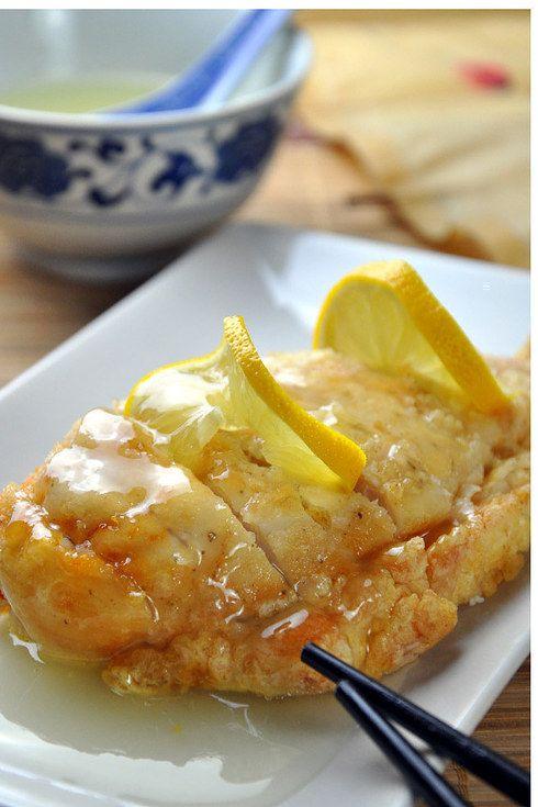 Pollo en salsa de limón, se convertirá en tu favorito. | 16 Deliciosas recetas de comida china que puedes hacer en ca
