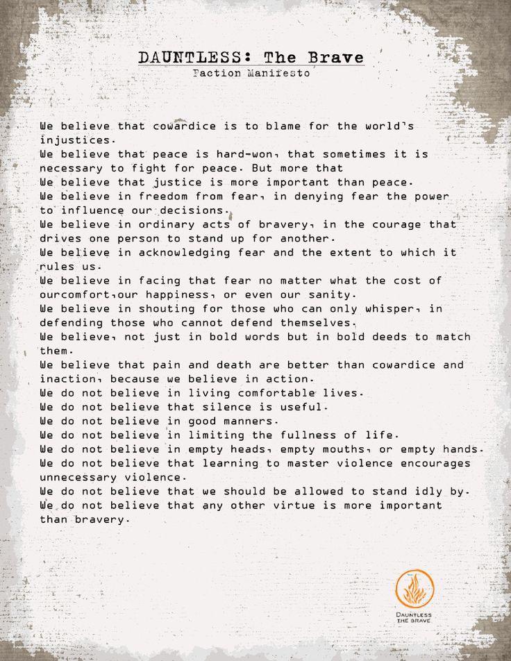 Dauntless Manifesto  F...