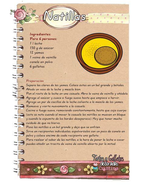 Tartas, Galletas Decoradas y Cupcakes: Natillas
