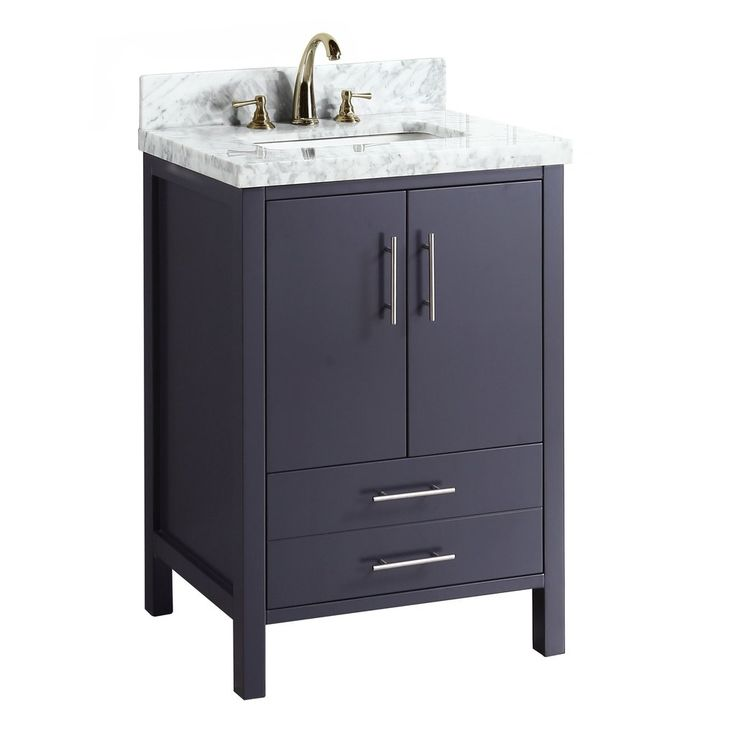24 Inch Gray Vanity Part - 36: California 24-inch Vanity (Carrara/Charcoal Gray)