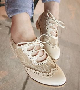 Cutout Oxford shoe lace belt winds in Rome with casual shoes women shoes danxie $38