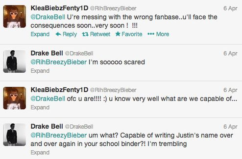 <b>Drake Bell vs. millions of tweens.</b> Who will win?!