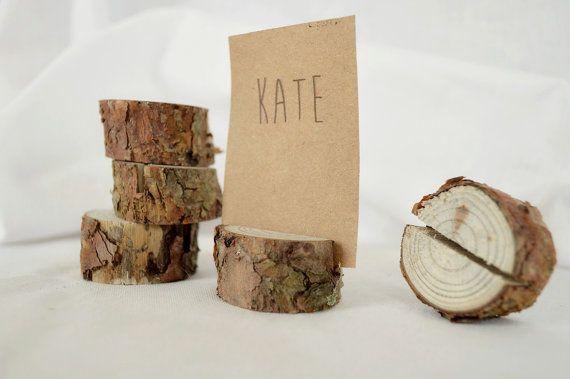 20 pièces rustiques pin arbre place porte-cartes par SnakeInChest
