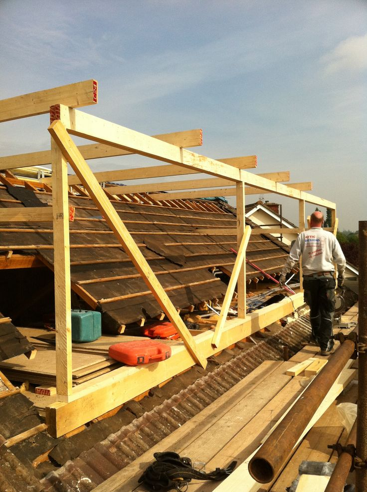 loft conversion ideas - loft conversion flat roof dormer in build 3