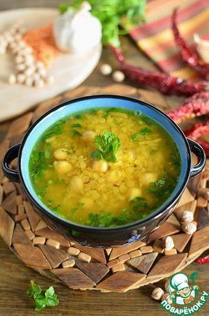 Живительный суп из красной чечевицы и нута