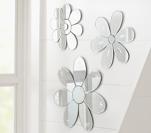Flower Mirrors: On crib wall | Pottery Barn Kids  from $49 small-$69 large