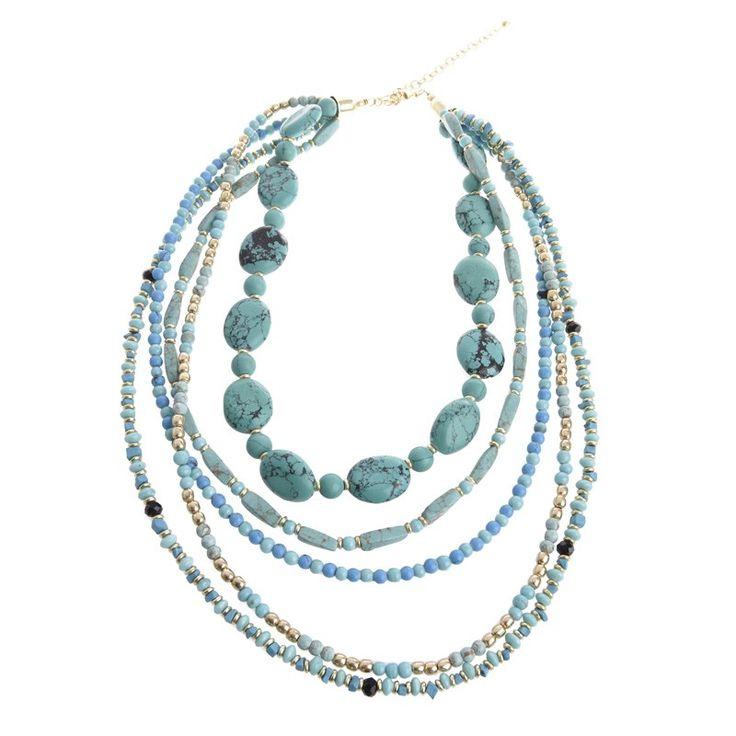 NECKLACE IN LIGHT BLUE COLOR - Necklaces - Jewellery - Accessories