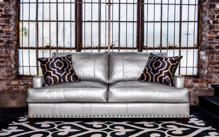Norwalk Furniture...love this. Linkin Sofa> this is in the super shiny fabric which also comes in a hot pink and silver version!