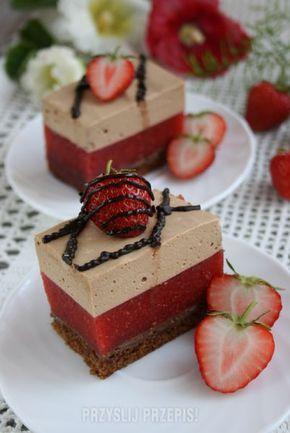 Ciasto truskawkowe z pianką cappuccino