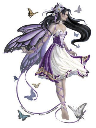 Butterfly Fairy..............Beautiful I wish I could make art like this