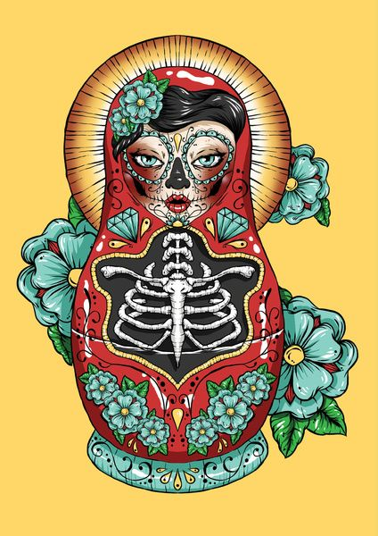 Drawing The Line Tattoos Tara Mccabe : Ideas about russian doll tattoo on pinterest