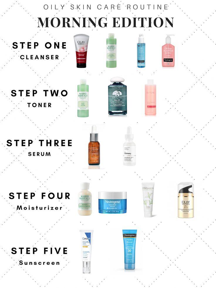 Morgen fettige Hautpflege. Schritt für Schritt Hautpflegeanleitung mit … – Beauty tips