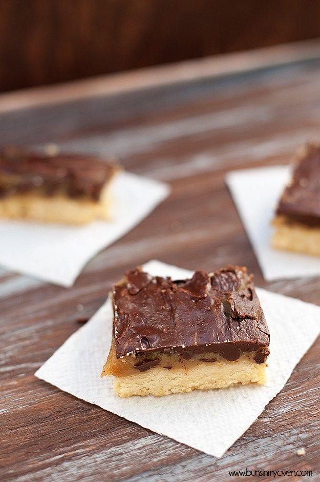 chocolate carame shortbread bars recipe