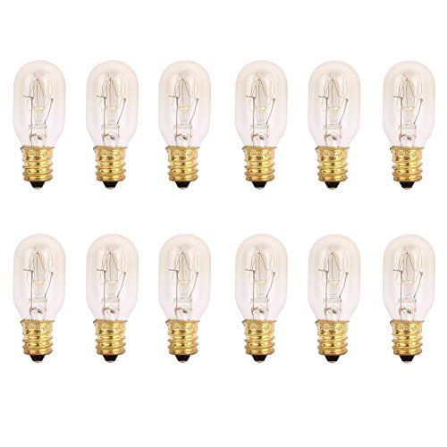 TGS Gems 25 Watt Himalayan Salt Lamp Light Bulbs Incandescent Bulbs E12 Socket-12Pack  Each package which has 12 bulbs  Bulb -25 Watt, fits E12 Socket  Whole bulb size: 1.9x0.8 inch  Not only can replace the salt lamp bulbs it can also replacement of incandescent bulb  It would be a perfect replacement bulb for your Salt Lamps