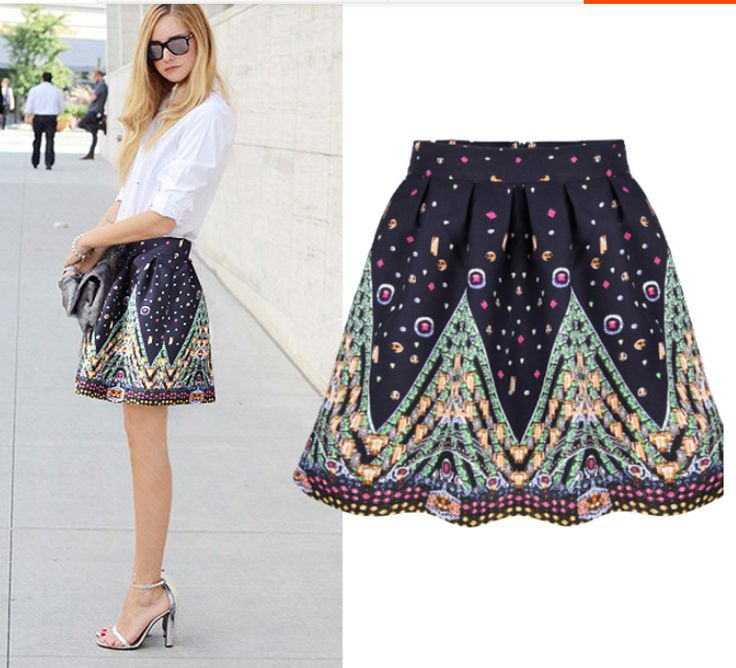 navy floral skirt - Google Search