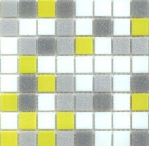 10 best images about kitchen splashback on pinterest for Yellow mosaic bathroom tiles