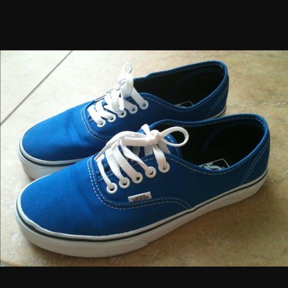 Vans Slightly worn blue vans Vans Shoes Sneakers