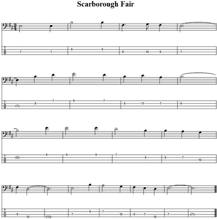 Lyric scarborough fair lyrics and sheet music : 28 best Basa - tabulatury,tablature,tab,tabs images on Pinterest ...