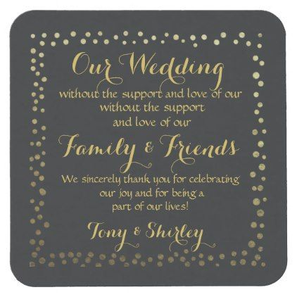 personalised Favor wedding coaster Thank you - family gifts love personalize gift ideas diy