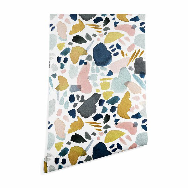 Stephanie Corfee Watercolor Mosaic Smooth Peel And Stick Wallpaper Panel Peel And Stick Wallpaper Mosaic Wallpaper Wallpaper Panels