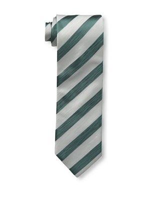 61% OFF Massimo Bizzocchi Men's Stripe Tie, Silver/Green
