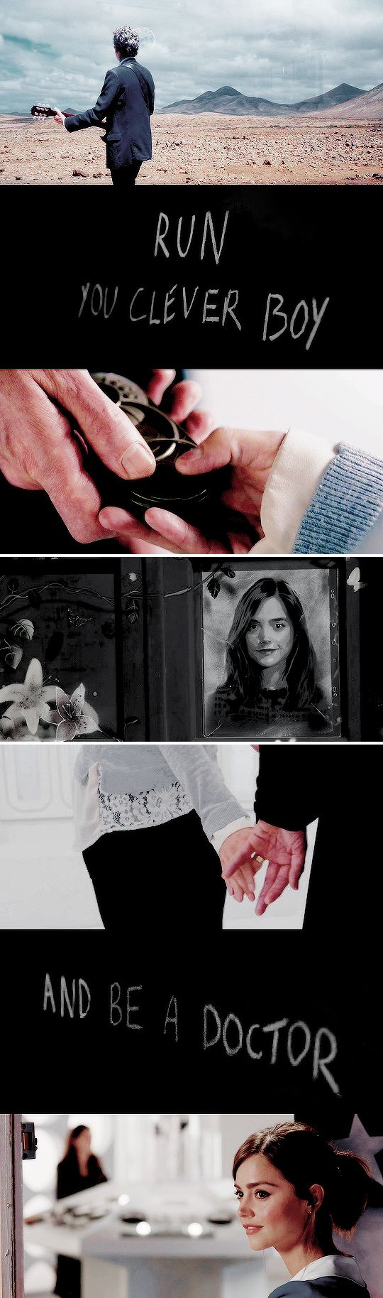 """Smile for me. Go on, Clara Oswald, one last time."" 
