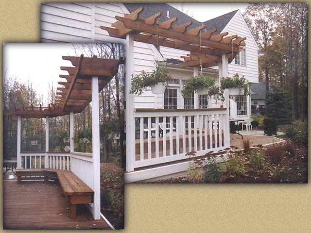 31 best images about pergola design on pinterest deck for Deck trellis