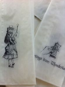 Alice in Wonderland party favor bags