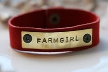 love the leather band style with the metal word plate...So many options!: Farms Girls, Farmers Daughters, Leather Cuff Bracelets, Style, Country Girls, Country Life, Farms Life, Leather Cuffs Bracelets, Farmgirl Bracelets