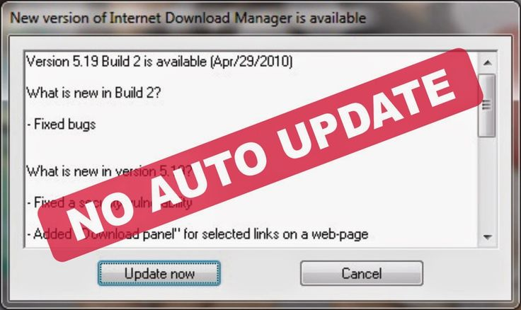 Cara Disable Automatic Update IDM
