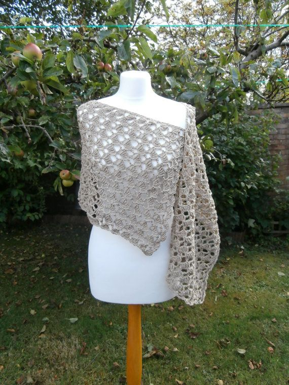 Eco-Friendly Recycled Cotton Shawl Crochet by StrangelyMagical