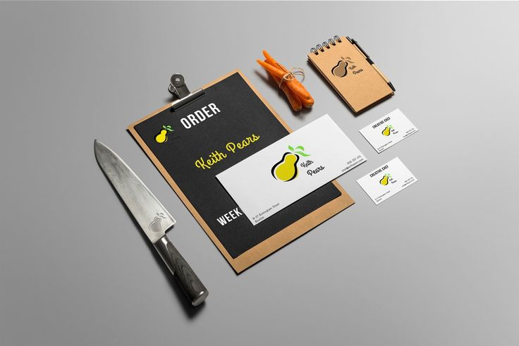 Keith Pears Branding Demo #Logo #business card #Visiting card #envelope #cook #chef #cooking #food #menu #graphic #graphicdesign