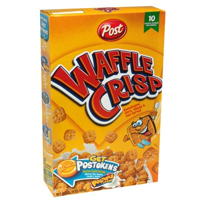 waffle crisp cereal. Yesss this is the best cereal ever and you can only get it at a piggly wiggly.