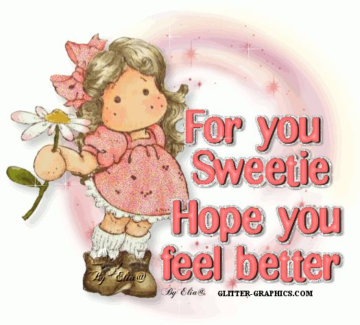 Get Well Glitter Grahics | Glitter Text » Get Well Soon » Hope feel beter