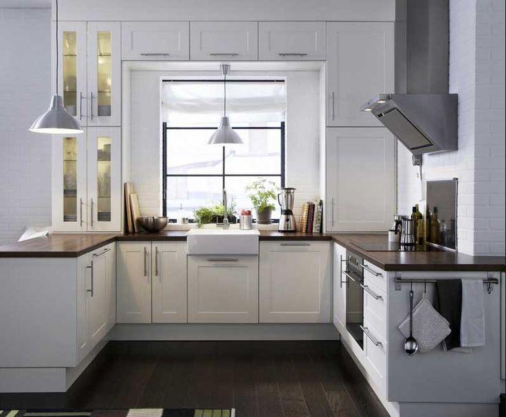 Küchenideen-für-kleine-küchen-mit-weiße-küchenmöbel-inklusive ...