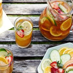 Who says that Pimm's is just for Pimm's Cups? Add Champagne, and it becomes an especially refreshing punch. Pimm's was created in the 1840s by an English oyster bar owner, and it became one of the most popular beverages in England. The exact recipe is a secret, but we do know that it is a gin-based liqueur flavored with spices and fruit. It is generally consumed in the Pimm's Cup with ginger ale and a fancy fruit garnish. This party punch takes it one step farther, letting it macerate with…