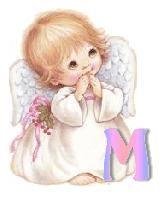Alfabeto de angelita rezando. ¡Disfrutando en mi hogar!