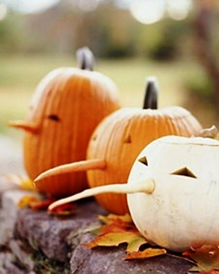 cute nose idea for carved pumpkins!
