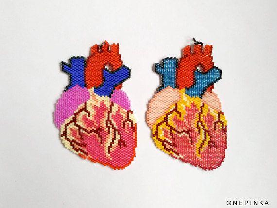 Collana cuore anatomico/Candy colori cuore gioielli