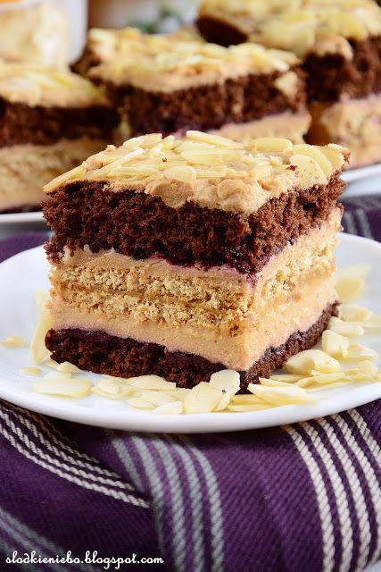 Słodkie niebo: Ciasto krówkowo-kukułkowe z płatkami migdałów http://slodkieniebo.blogspot.com/2016/03/ciasto-krowkowo-kukukowe-z-patkami.html