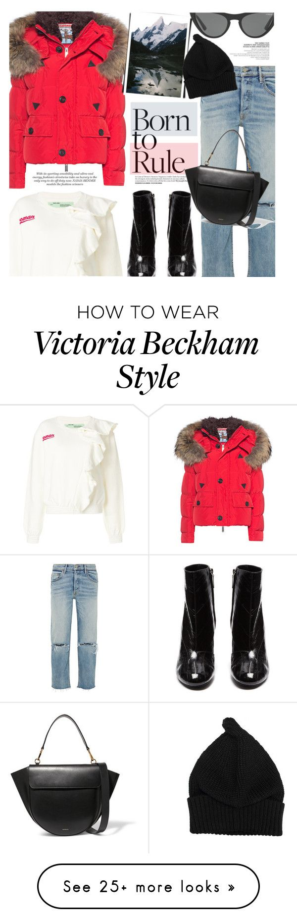 """""""Winter Style"""" by chocolate-addicted-angel on Polyvore featuring Dsquared2, GRLFRND, Yves Saint Laurent, Off-White, Victoria, Victoria Beckham, Wandler, winterfashion, 2017 and puffercoats"""