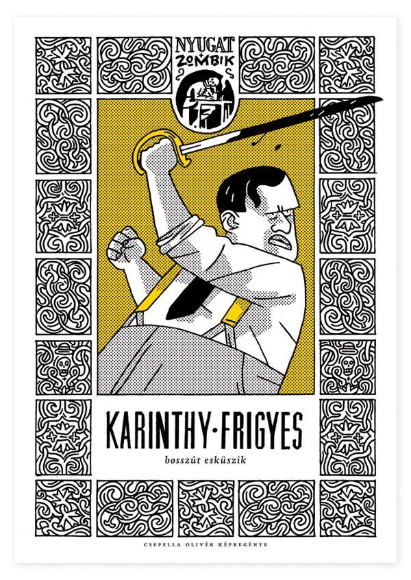 Nyugat + Zombik comics | Degree project by Olivér Csepella, via Behance