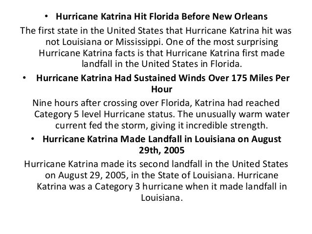 hurricane katrina facts - Google Search | Hurricane ...