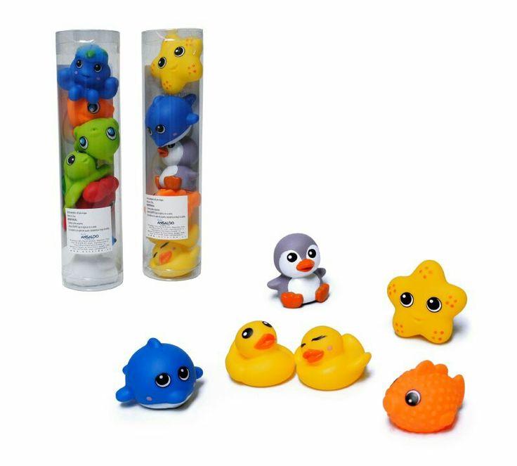 Set se animalitos soft para el agua, los niňos se divertiran en la hora del baňo.