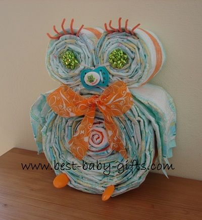Free Diaper Owl Instructions- good gift for all those soon to be prego chi os!
