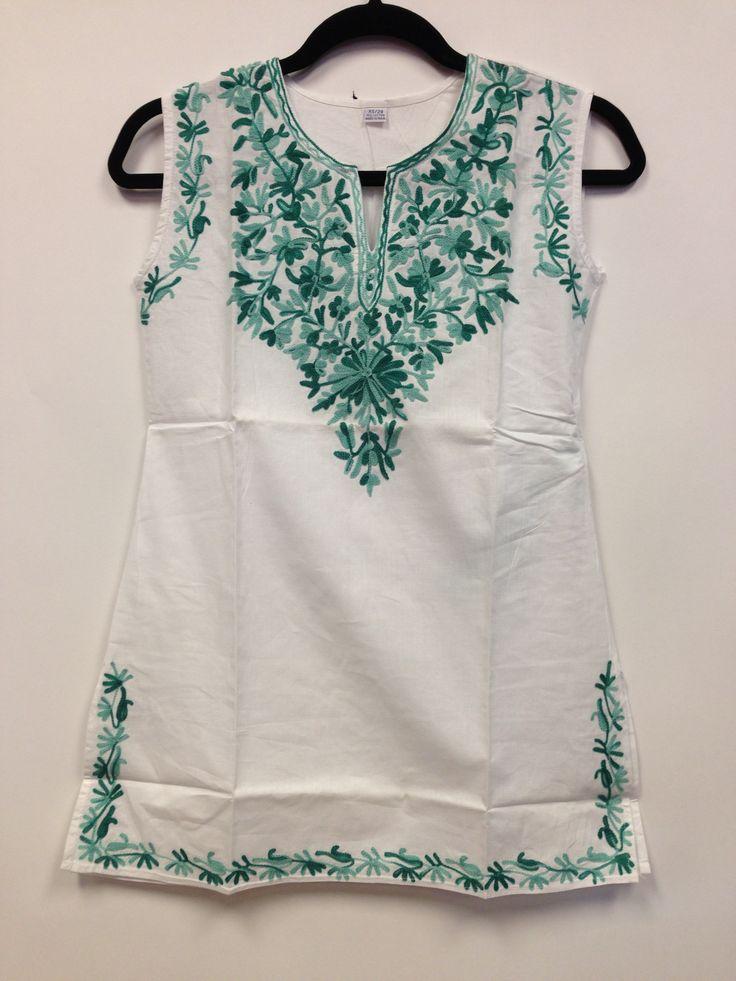 Kashmiri Embroidered Short Cotton Kurti